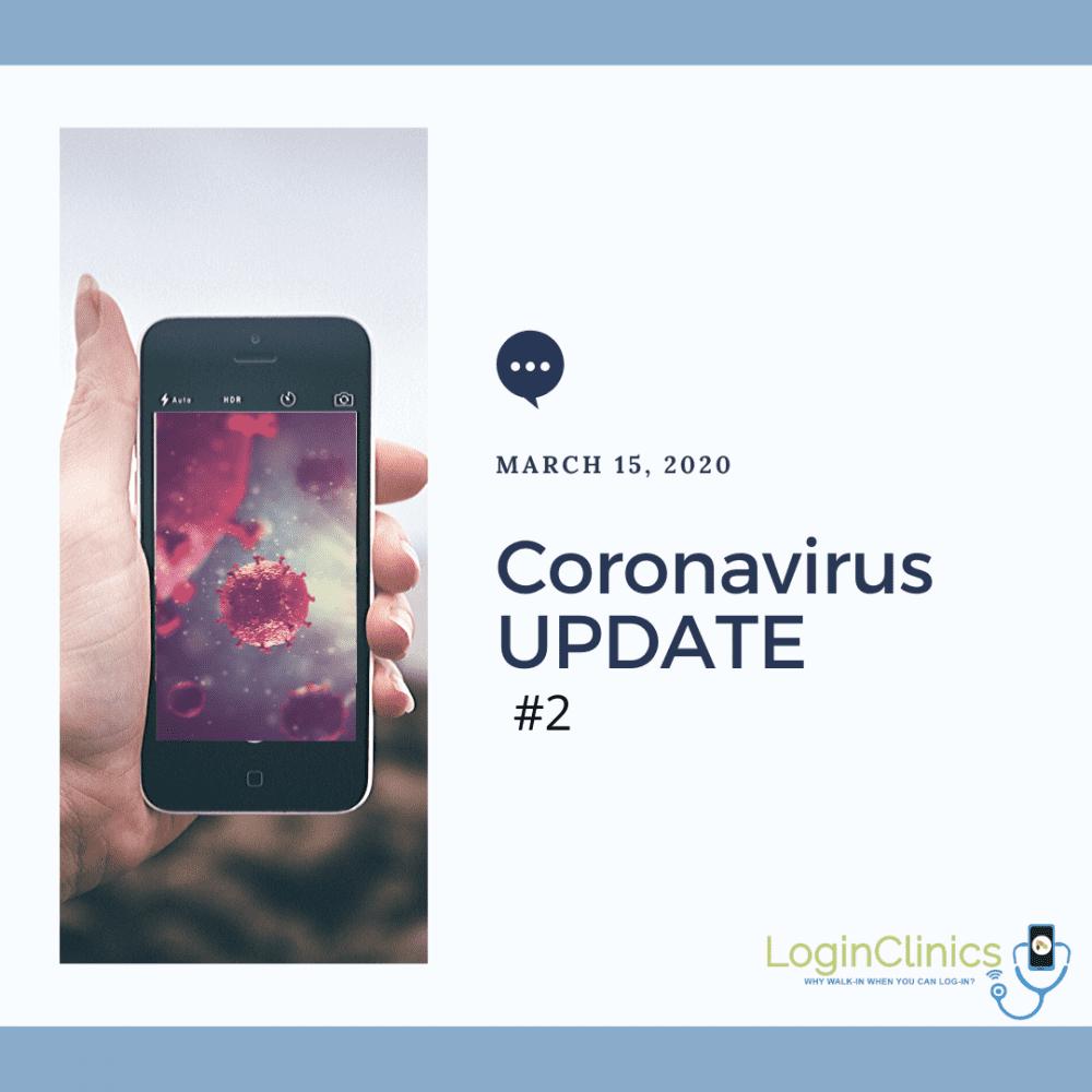 Coronavirus UPDATE March 15, 2020